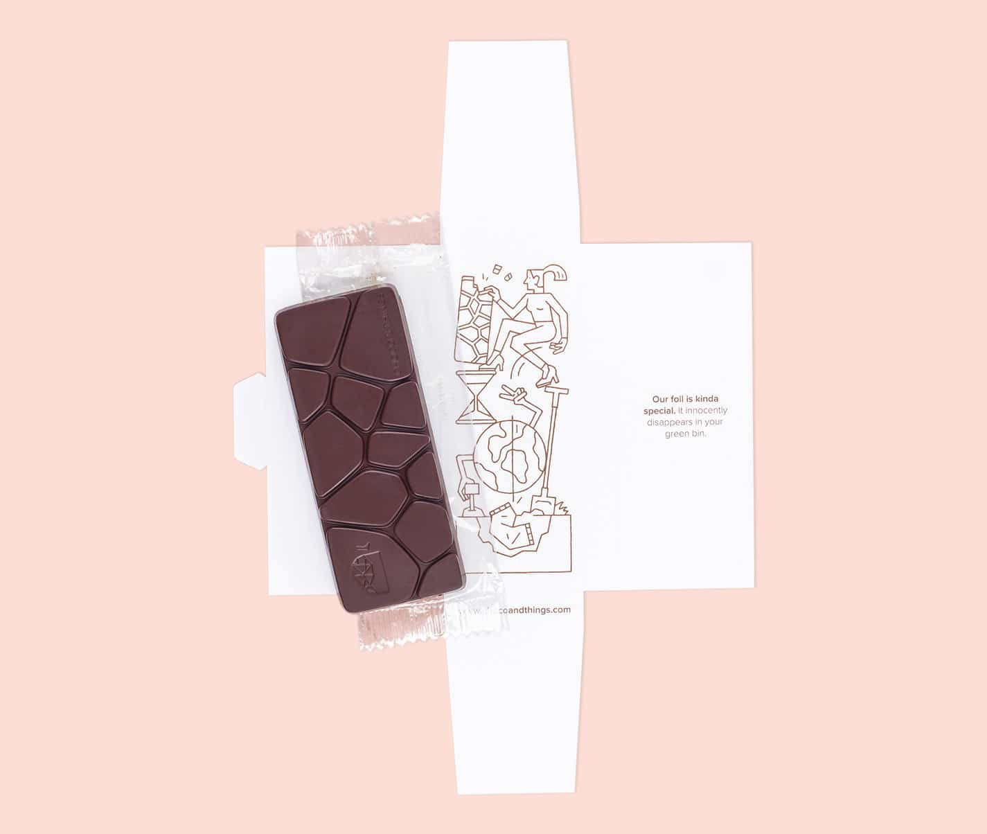 Vegan chocolate packing.